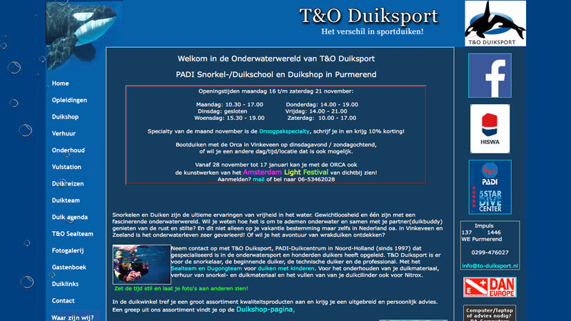 Screenshot T&O Duiksport