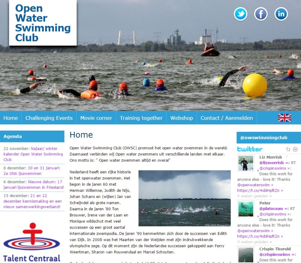 Screenshot OpenWaterSwimmingClub
